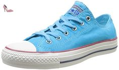 Converse Chuck Taylor All Star Wash Ox- Baskets mode femme - Bleu, 37 EU (4.5 UK) - Chaussures converse (*Partner-Link)