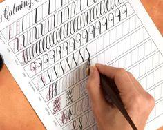 """11 Calming Calligraphy Drills"" Printable"