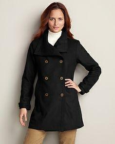 Christine Long Wool-Blend Coat | Eddie Bauer