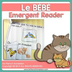 For French Immersion Emergent Reader - Le BÉBÉ - en français French Immersion, Emergent Readers, Teaching French, France, I School, Anchor Charts, Kindergarten, Student, Education