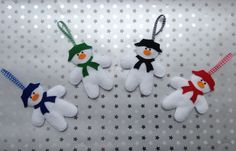 Felt Snowman Hanging Decoration by BellaandRoo on Etsy