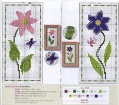 Flores en punto de cruz patrones - Imagui