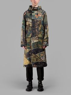 DRIES VAN NOTEN Dries Van Noten Men'S Multicolor Hooded Parka. #driesvannoten #cloth #coats