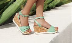 Rockport's Talayeh Buckle Anklestrap in Aqua Sea