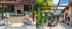 From freestanding to extensions of one's backyard patio, discover the top 60 best pergola ideas. Explore modern steel to rustic wood covered designs. Small Pergola, Outdoor Pergola, Backyard Pergola, Patio Roof, Pergola Plans, Backyard Landscaping, Pergola Ideas, Patio Ideas, Pergola Kits