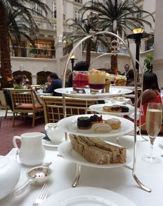 The British love-affair with tea, traveled with them to the colonies. Afternoon tea is a small meal/snack taken between 3 & 5pm. Observance of the custom originated amongst the wealthy classes in England in the 1840s. Traditionally, loose tea is brewed in a teapot & served w/milk & sugar, & sandwiches (cucumber, egg/cress, fish paste, ham & smoked salmon), scones w/clotted cream & jam, & pastries (Battenberg, Fruit or Victoria Sponge cakes) to provide fortification against afternoon doldrums...