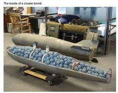 STRANGE MILITARY EQUIPMENT - CHECKOUT THE INSIDE OF A AIR FORCE CLUSTER BOMB! EACH ONE IS A BOMB!