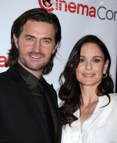 Richard Armitage et Sarah Wayne Callies au panel Warner Bros lors CinemaCon 2014 au Caesars Palace à Las Vegas, le 27 mars 2014.