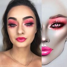 ✨The makeup is stunning! Makeup Is Life, Makeup Art, Beauty Makeup, Makeup Looks, Mac Face Charts, Lime Crime Makeup, Beautiful Eye Makeup, Makeup Obsession, Creative Makeup