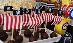 Caramelo Party: Cumpleaños de piratas para Simón Pirate Birthday, Pirate Theme, Boy Birthday, Backyard Birthday, 3rd Birthday Parties, Pirate Kids, Party Fiesta, Nautical Party, Baby Party