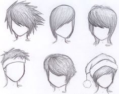 anime hair with hat drawing male - Google Search
