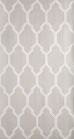 Tessella is a truly geometric paper. Inspired by a century design this interlocking mosaic pattern is confident and clean. Tessella has a ground colour in Elephant's Breath No. 229 and pattern printed in Skimming Stone Stone Wallpaper, Grey Wallpaper, Geometric Wallpaper, Pattern Wallpaper, Grey Trellis Wallpaper, Office Wallpaper, Bedroom Wallpaper, Farrow Ball, Gray Bedroom
