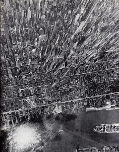 Birdseye view of Manhattan, 1944.