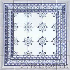 Delft tile wall insert