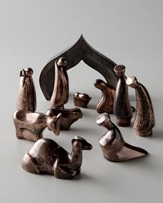 "Nambe ""Heritage"" Nativity Scene in November Pre-Christmas 2012 from Neiman Marcus"