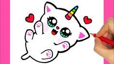 🔥 Descubre las mejores imágenes de gatos para dibujar, no importa si eres experto o eres novato en esto del dibujo, con estas increíbles referencias podrás... Cat Drawing Tumblr, Cat And Dog Drawing, Kitten Drawing, Unicorn Drawing, Unicorn Cat, Cute Unicorn, Cute Cat Drawing Easy, Cute Easy Drawings, Kawaii Drawings