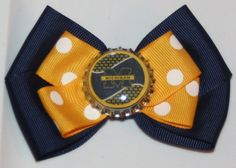 University of Michigan Navy and Yellow Gold Hair Bow by bowsforme, $6.99