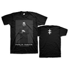 Marilyn Manson Cloaked T-Shirt printed on 100% cotton tee in Black. = $25.00