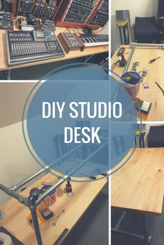 DIY Studio Desk For Comfortable Keyboard Playing http://www.simplifiedbuilding.com/blog/diy-studio-desk-for-comfortable-keyboard-playing/ #KeeKlamp #diy #pipedesk