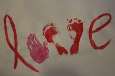 "DIY Kids Valentine ""Love"" Art"