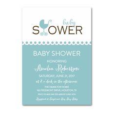 Editable PDF Baby Shower Invitation DIY - Mint Aqua - Instant Download Printable- Edit in Adobe Reader