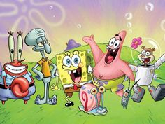 """Nickelodeon and the United States Postal Service team up for """"Spongebob Mailpants"""" letter writing program; 30 custom-wrapped SpongeBob Mailboxes placed in 13 cities nationwide as program rolls out in post office locations. Cartoon Wallpaper, Wallpaper Spongebob, Images Wallpaper, Windows Wallpaper, Wallpapers, Spongebob Cartoon, Cartoon Kids, Watch Spongebob, Spongebob Birthday Party"""