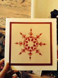 Christmas needlepoint card 2013