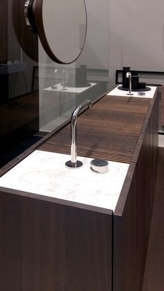 sink wood Salone del Mobile 2016 - Makro