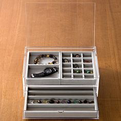 Acrylic Case 2 Drawers with Lid - Large  http://www.muji.us/store/acrylic-case-2-drawers-with-lid-large.html