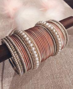 Pink/peach bangles 😍😍😍😍😍 Which set is your fav? Jewelry Trends, Jewelry Sets, Jewelry Accessories, Jewelry Design, Girls Jewelry, Bridal Bangles, Wedding Jewelry, Bangle Set, Bangle Bracelets