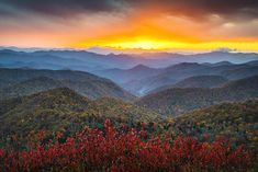 Rapture - Blue Ridge Parkway Autumn Sunset Landscape Photography by Dave Allen  http://www.daveallenphotography.com/