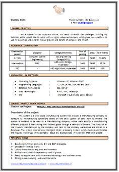 Image Result For Resume Format For Hotel Management