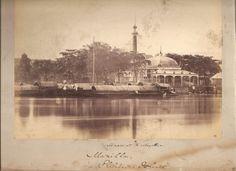 """Monument to Magellan, Manilla, Philippine Islands."" ca 1880 Intramuros, Vintage Pictures, Old Photos, Philippines, Islands, Taj Mahal, Spanish, Nostalgia, Old Things"