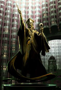 Wizard (Harry Potter and the Order of the Phoenix) concept art by Adam Brockbank