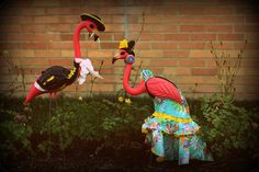 Flamingos Lawn Ornaments - Flamenco Costumes