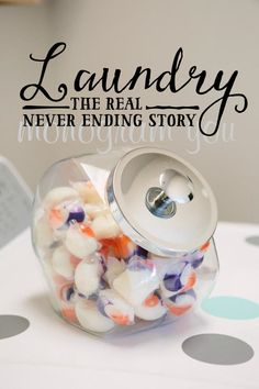Laundry the Real Never Ending Story by MonogramYou on Etsy