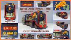 TOMS TECH TOYS: TRAINS LOCOMOTIVES Tech Toys, Made In Japan, Locomotive, Pennsylvania, Nerf, Trains, Toms, Locs, Train