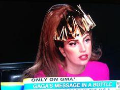 Futuristic crown designed by Alexis Bittar for Lady Gaga.