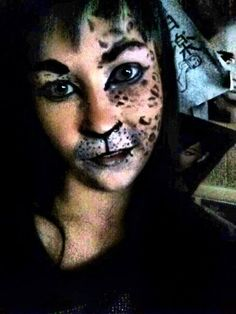 makeup, halloween, cat