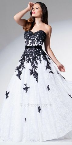 Cascading Lace Evening Gown by Tony Bowls Evenings #edressme