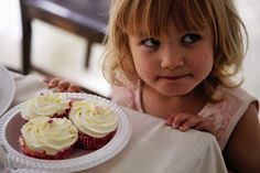Little girls just want to eat cake <3