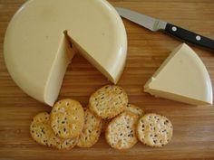 Hard Cashew Cheese (Vegan) Vegan Cashew Cheese, Nut Cheese, Vegan Cheese Recipes, Dairy Free Cheese, Vegan Foods, Vegan Snacks, Raw Food Recipes, Cooking Recipes, Cheese