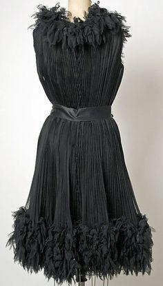 Balenciaga - Vintage - Robe de Cocktail 'Plis et Froufrous' - 1963