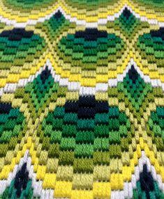 Bargello Needlepoint Florentine Long stitch 3D Original