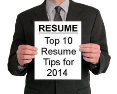 10 Best Resume Tips for 2014
