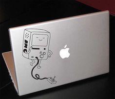 """Adventure Time Beemo 13"""" Macbook Apple Laptop Decal. $9.99, via Etsy."""