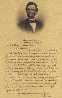 Civil War President Abraham Lincoln Bixby Letter Parchment Like Popster Print 48 | eBay: