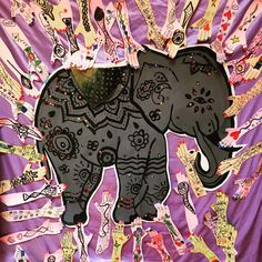 indian preschool craft tattoo and elephant