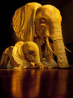 Dodgy Clutch Theatre Company – Elephant. I love how flowy these elephants are. Also love the colors and how they reflect the light. So cool!!!