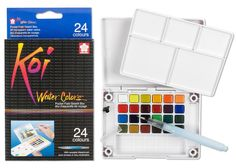 24 Colors Koi Water Colors Pocket Field Sketch Box XNCW24N: Amazon.de: Küche & Haushalt